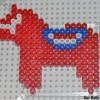 Perler Bead Dala Horse {Iron Craft Challenge}