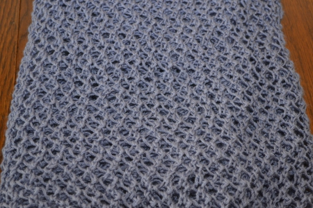 eyelet wrap knitting