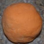 finished orange playdough
