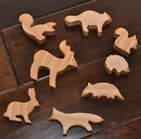 wooden animal waldorf toys