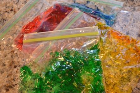 gel bags sensory play