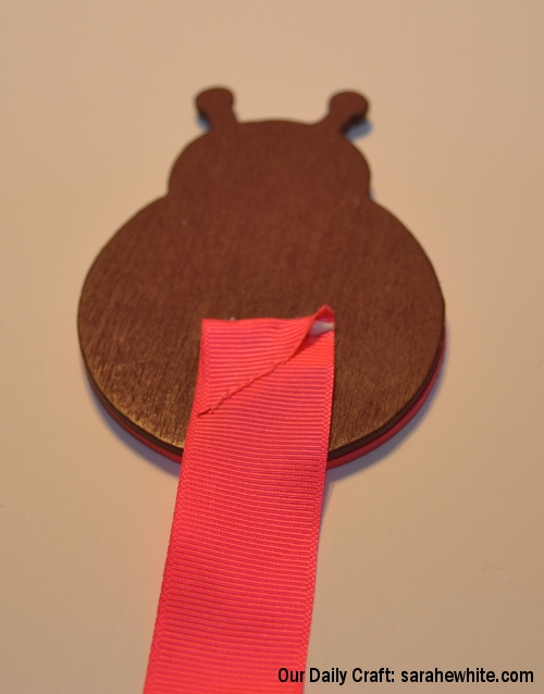 ribbon glued to shape