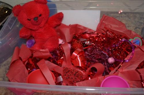valentine sensory box