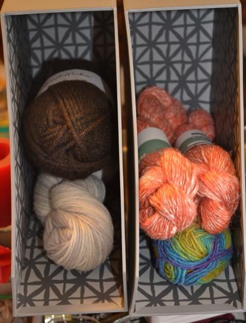 yarn storage magazine holders