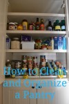 how to clean a pantry