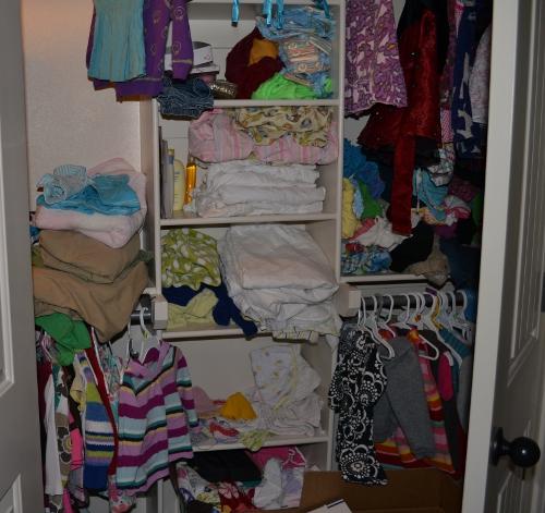 messy kids closet