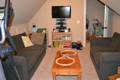 playroom decluttering