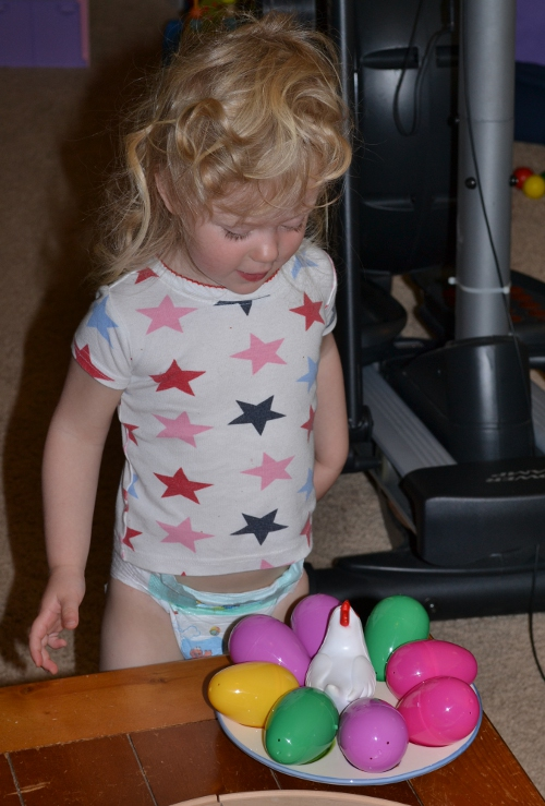 playing Easter eggs