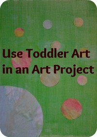 Use Kid's Art in a Piece of Wall Art