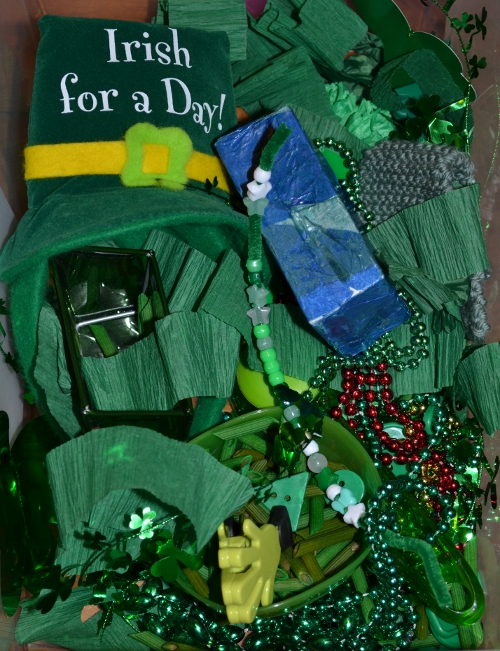 St. Patrick's Day sensory box