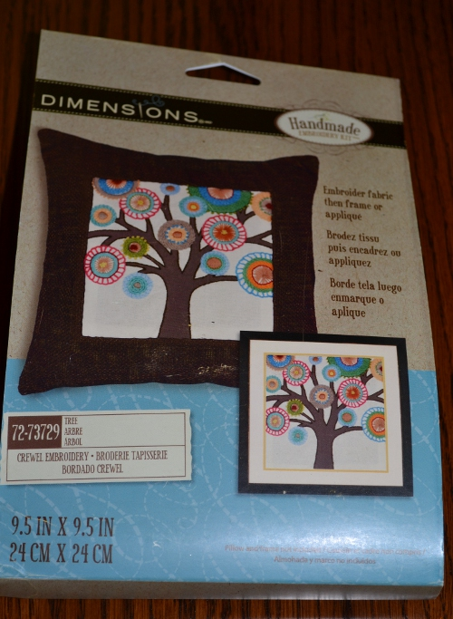 dimensions needlecraft tree embroidery kit