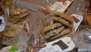 box of bake sale cookies