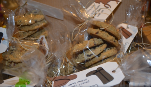 box of bake sale cookies
