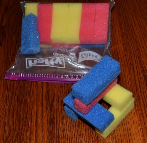 sponge block busy bag