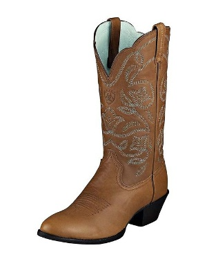 Women's Heritage Western R Toe Boot - Brown Oiled Rowdy by Ariat