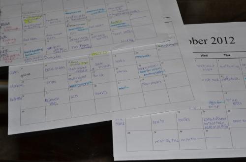 calendars planning