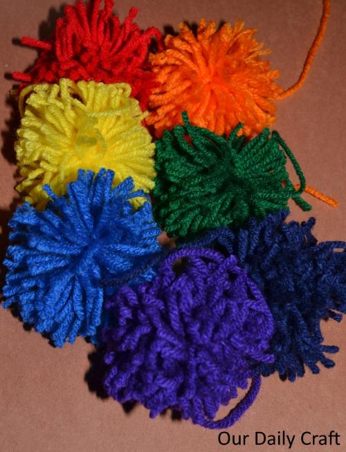 rainbow pompoms
