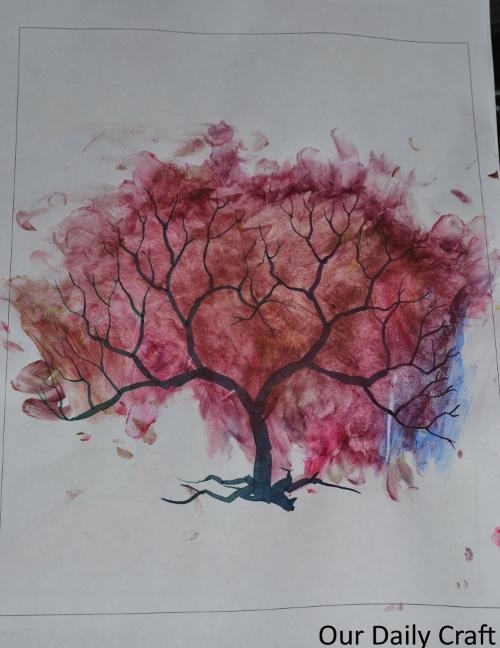 fingerpaint tree