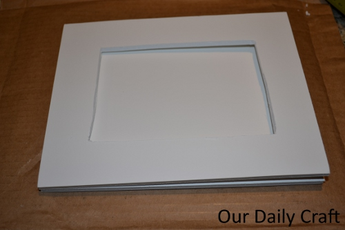 cut out foam board frame