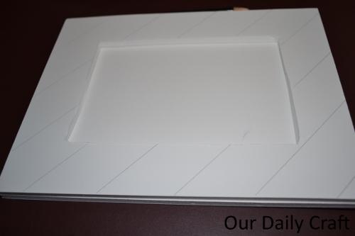 drawing lines foam board