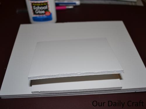 foam baord photo frame stand