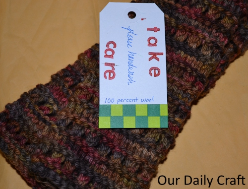 knit care gift tag
