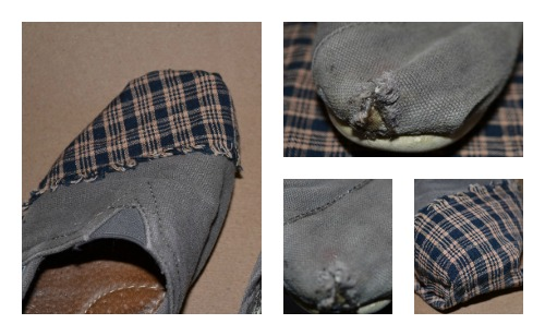 how to fix holes in canvas shoes