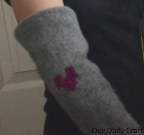 upcycled sweater sleeves