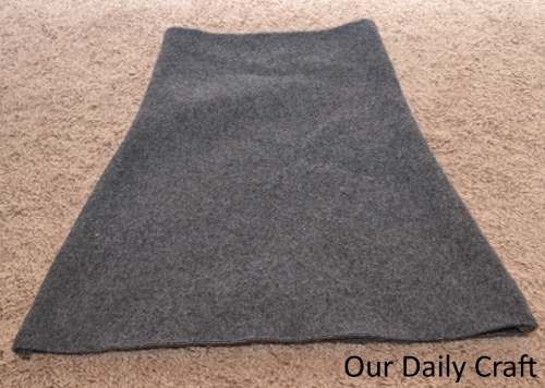 sewn skirt seams