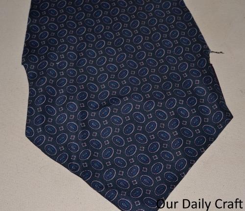 seam ripped tie