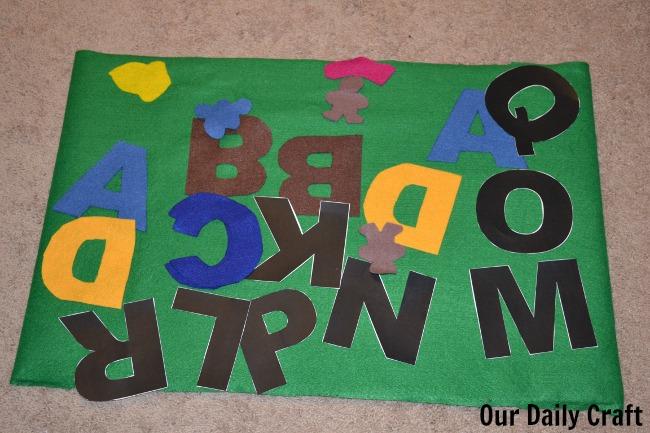 felt board alphabet