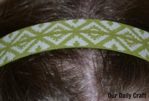elastic headband diy