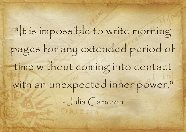 morning pages quote