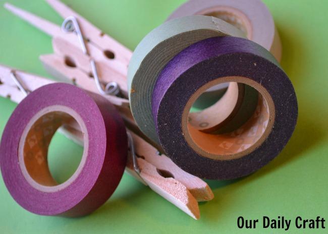 washi clothespins