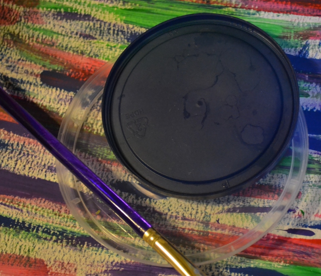 plastic lid paint