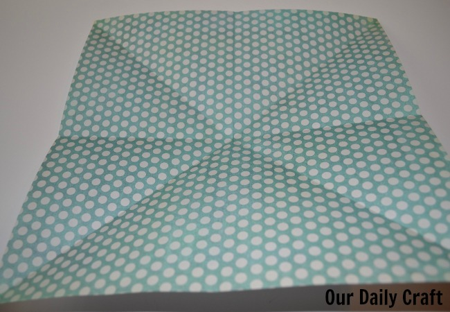 creased paper origami box
