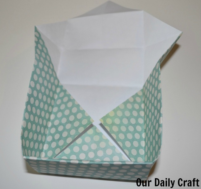 folded sides origami box