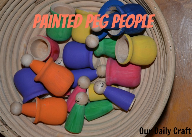 painted peg people