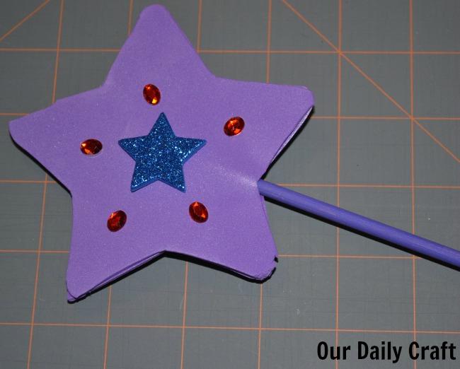 finished fairy wand