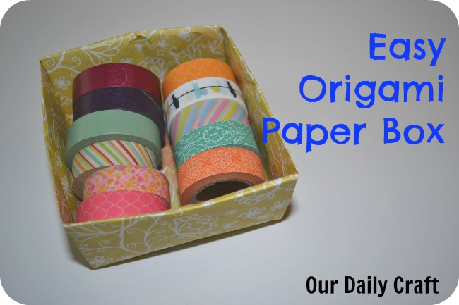 origami box washi tape storage