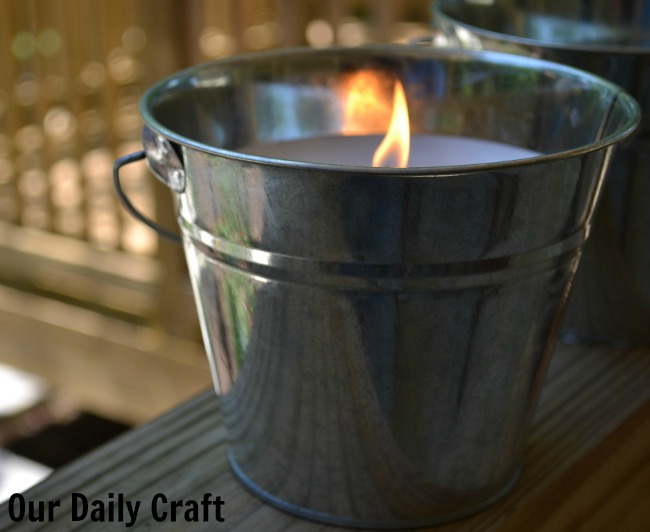 Quick and Easy Bucket Candles for Summer