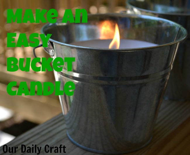 galvanized bucket candles