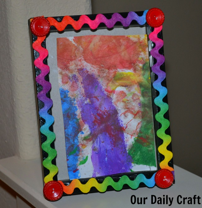 Easy Embellished Picture Frame {Iron Craft Challenge}