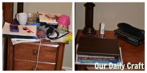 bedside table clearing