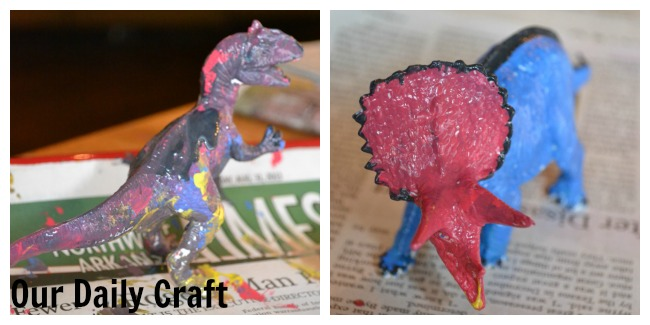 painted dinosaurs