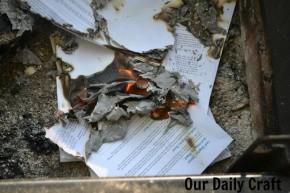 burning manuscript