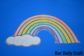 rainbow gift tag