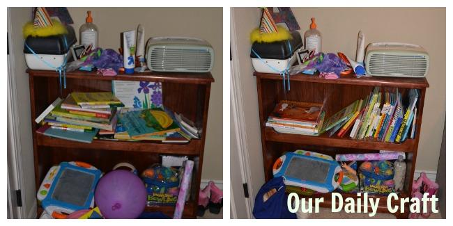 messy shelf redo