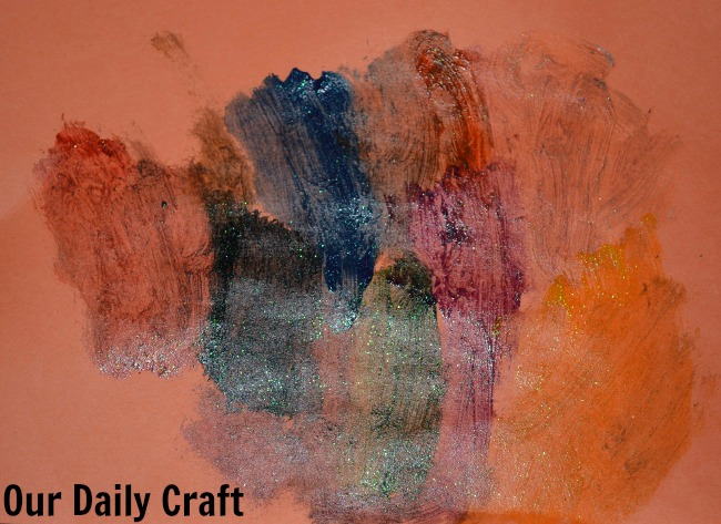 painting glitter paint