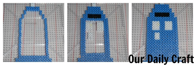 perler tardis construction